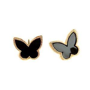 🔆3/$30 New Black Enamel Butterfly Earrings